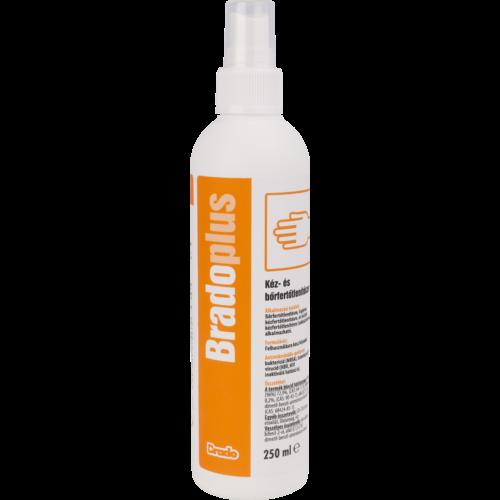 BradoPLUS bőrfertőtlenítő színtelen szórófejes 250ml