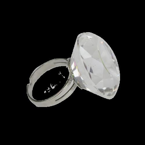 Ragasztó tartó kristály gyűrű