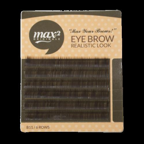 Sötét barna szemöldök pilla 4mm hosszú/0,10mm vastag