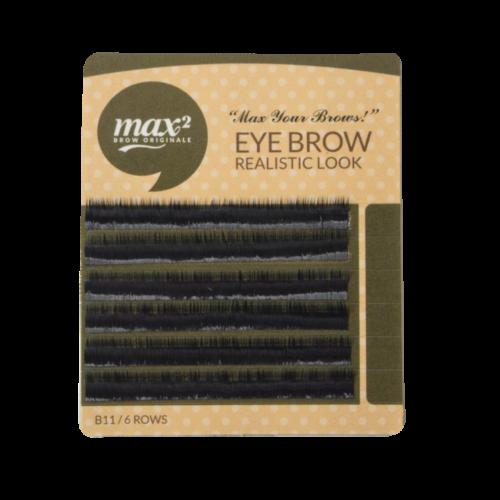Fekete szemöldök pilla 6mm hosszú/0,10mm vastag