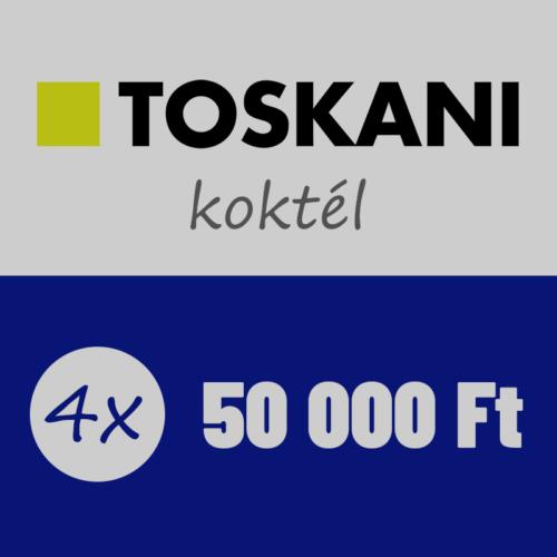 Havonta 50.000Ft vásárlás a Toskani hatóanyag koktélokból 4 hónapon át, összesen 200.000Ft értékben
