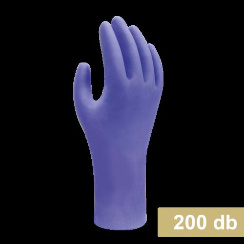 Maxter NITRIL kesztyű, púdermentes, kék M (100db/doboz)