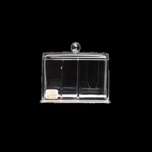 Kozmetikai vatta és fültisztító tartó 2 részes display