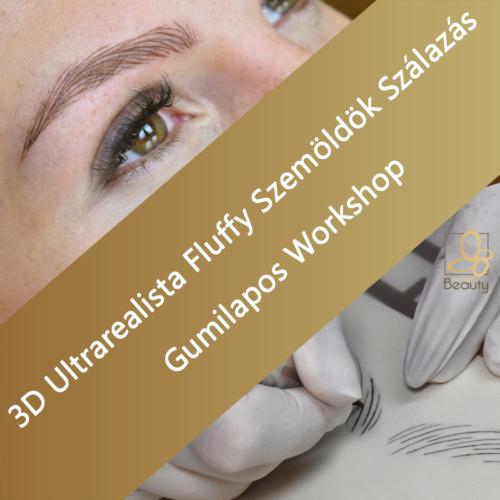 3D Ultrarealista Fluffy Szemöldök Szálazás - Gumilapos Workshop