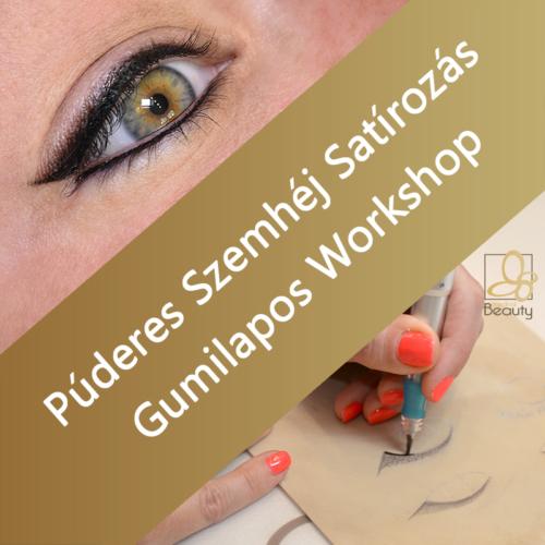 Púderes Szemhéj Satírozás - Gumilapos Workshop